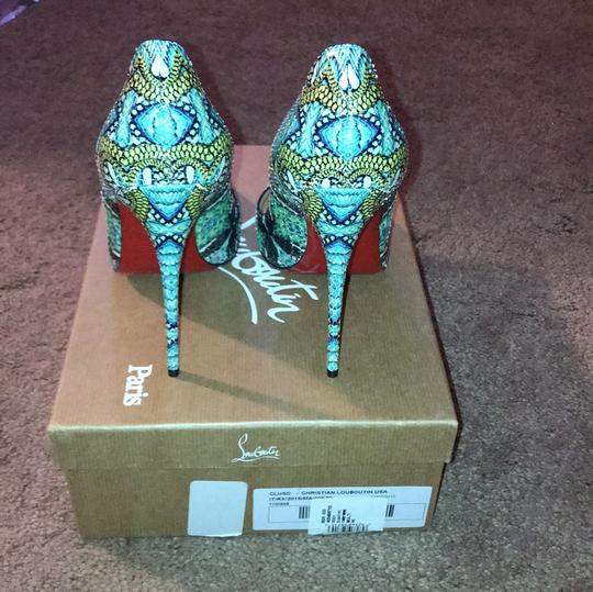 Christian Louboutin Python multi colored Pumps