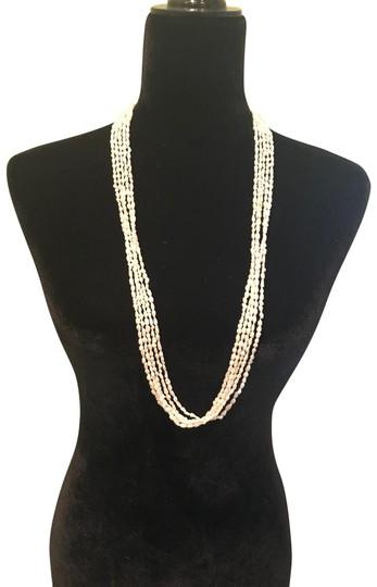 Preload https://img-static.tradesy.com/item/22461285/white-multi-strand-real-pearls-necklace-0-1-540-540.jpg