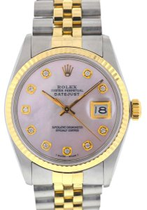 Rolex Rolex 16013 Datejust Two Tone MOP Diamond Dial Automatic Watch