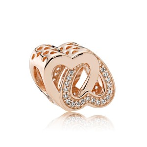 PANDORA Entwined Love Charm, PANDORA Rose & Clear CZ Item #781880CZ