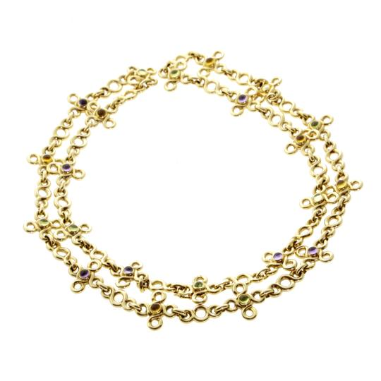 Preload https://img-static.tradesy.com/item/22461438/chanel-yellow-gemstone-gold-sautoir-opulent-necklace-0-0-540-540.jpg