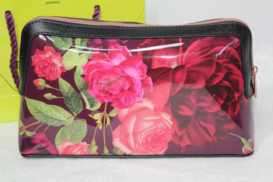 7209d9cdfcfc TAGS TED BAKER LONDON FLORAL COSMETIC MAKEUP WASH BAG Image. 123456789101112