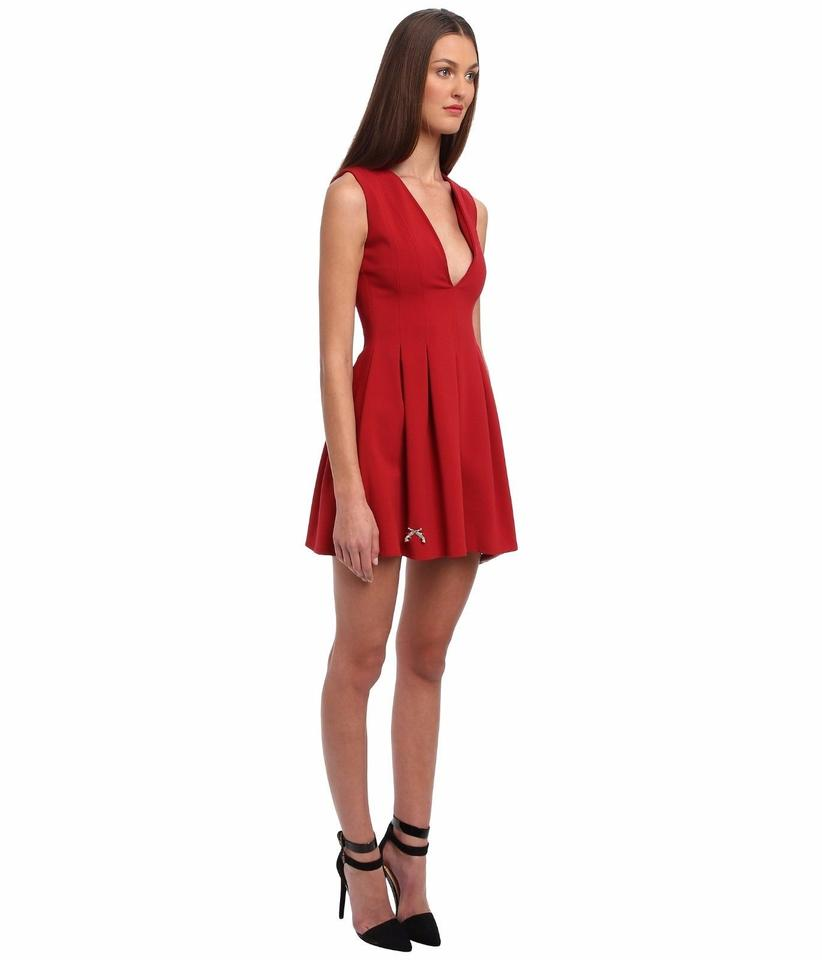 Philipp plein passion red women 39 s above knee sleeveless for Cocktail 8 5