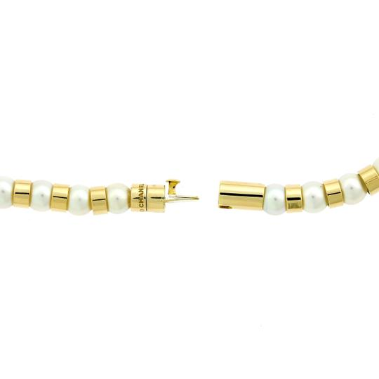 Chanel Chanel Yellow Gold Pearl Bead Necklace - Opulent Jewelers