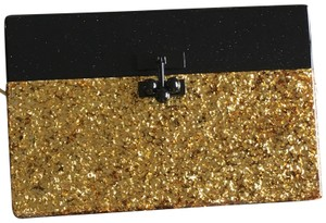 Edie Parker Gold Confetti/Obsidian Sand Clutch