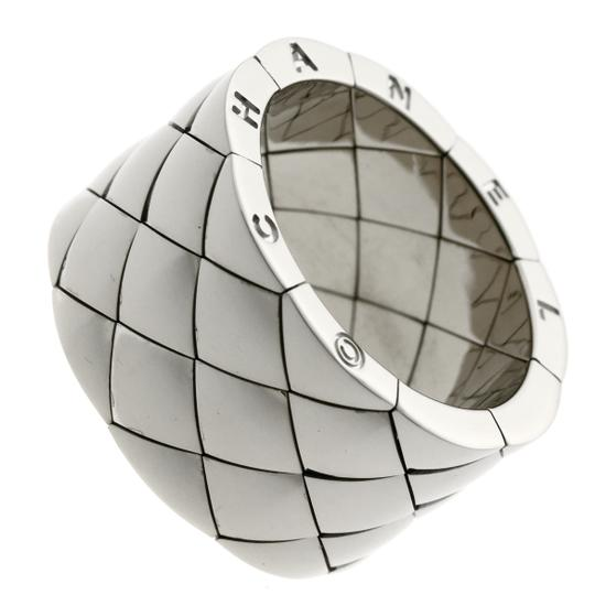Chanel Chanel Matelasse White Gold Quilted Ring - Opulent Jewelers