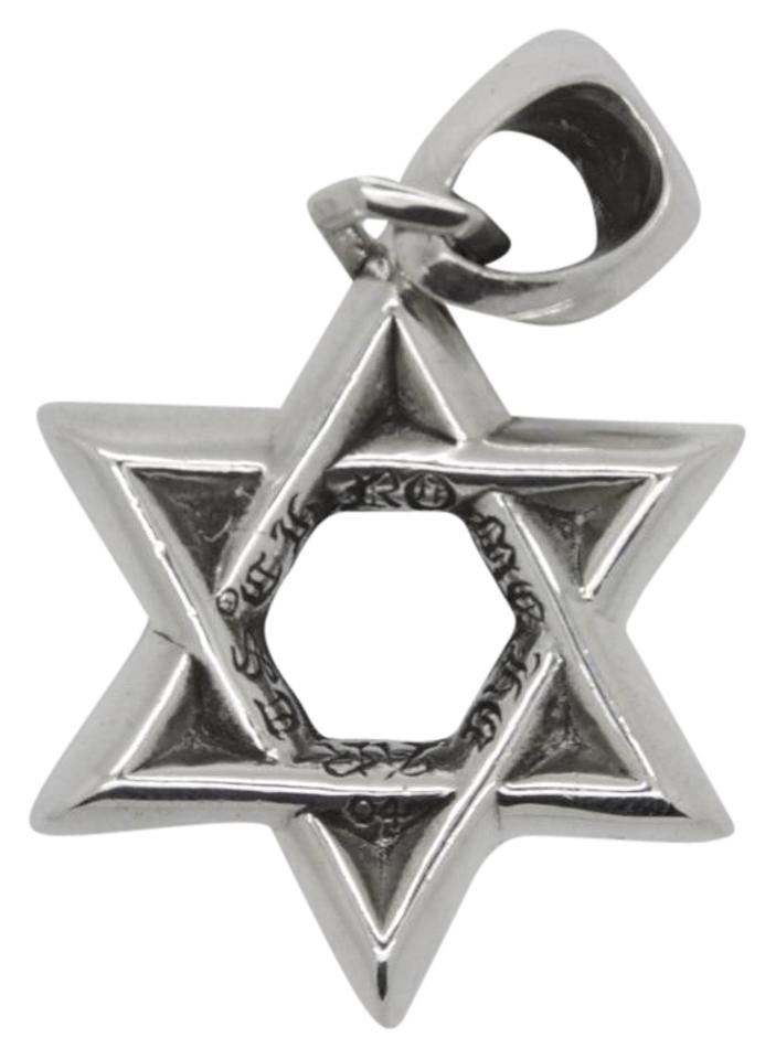 Chrome hearts sterling silver star of david 925 pendant necklace chrome hearts chrome hearts star of david sterling silver 925 pendant aloadofball Choice Image
