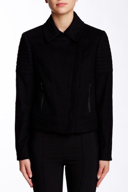 Vince Quilted Wool Burberry Black Jacket