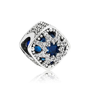 PANDORA Glacial Beauty Charm, Swiss Blue Crystals & Clear CZ Item#796360NSB