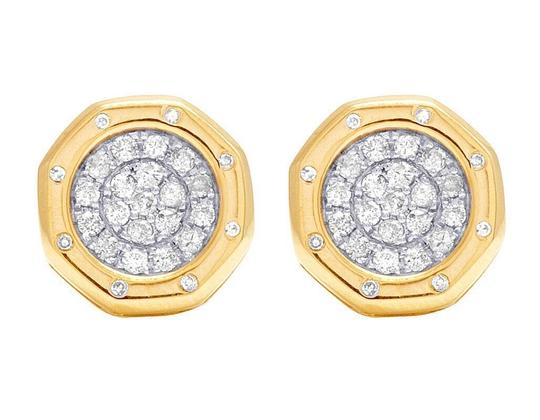 Preload https://img-static.tradesy.com/item/22461759/jewelry-unlimited-yellow-gold-10k-genuine-diamond-octagon-cluster-stud-25-ct-earrings-0-0-540-540.jpg