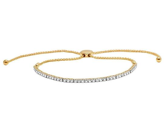 Jewelry Unlimited 10K Yellow Gold 2MM One Row Solitaire Diamond Bolo Bracelet 1.0 Ct