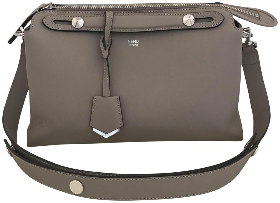 2d65ce4fff5a Fendi By The Way Small Grey Handbag. Small Boston In Beige Dave ...