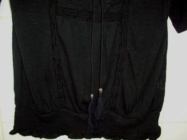 Index Tank Shirt Laced Up Lace Detail Top Black