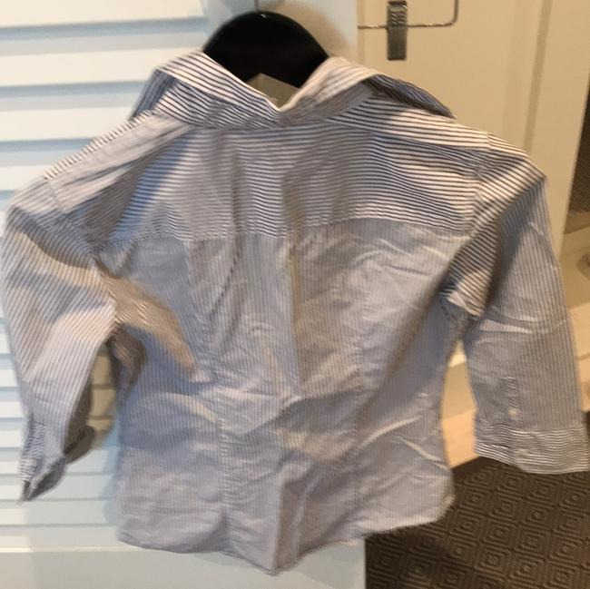 J.Crew Top gray and white