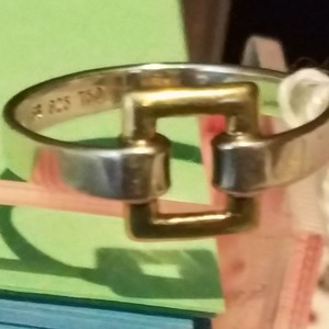 S.B. Desianer 18K Buckle band yellow gold sterling silver ring