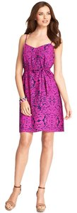 Ann Taylor short dress Pink and Blue Paisley Spaghetti Strap on Tradesy