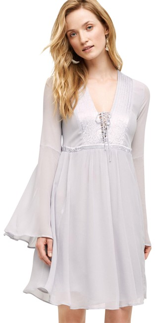 Preload https://img-static.tradesy.com/item/22462006/anthropologie-blue-gray-ghost-belled-peasant-short-cocktail-dress-size-12-l-0-2-650-650.jpg