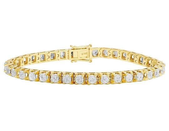 Preload https://img-static.tradesy.com/item/22462014/jewelry-unlimited-yellow-gold-mens-10k-genuine-diamond-6mm-cluster-tennis-ct-bracelet-0-0-540-540.jpg