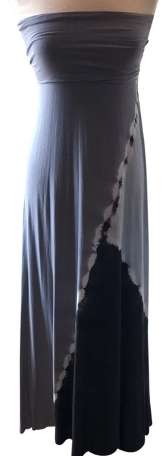 Preload https://img-static.tradesy.com/item/22462088/young-fabulous-and-broke-light-gray-blue-and-charcoal-gray-strapless-tie-dye-long-casual-maxi-dress-0-1-650-650.jpg