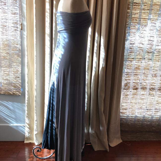 light gray blue and charcoal gray Maxi Dress by Young Fabulous & Broke
