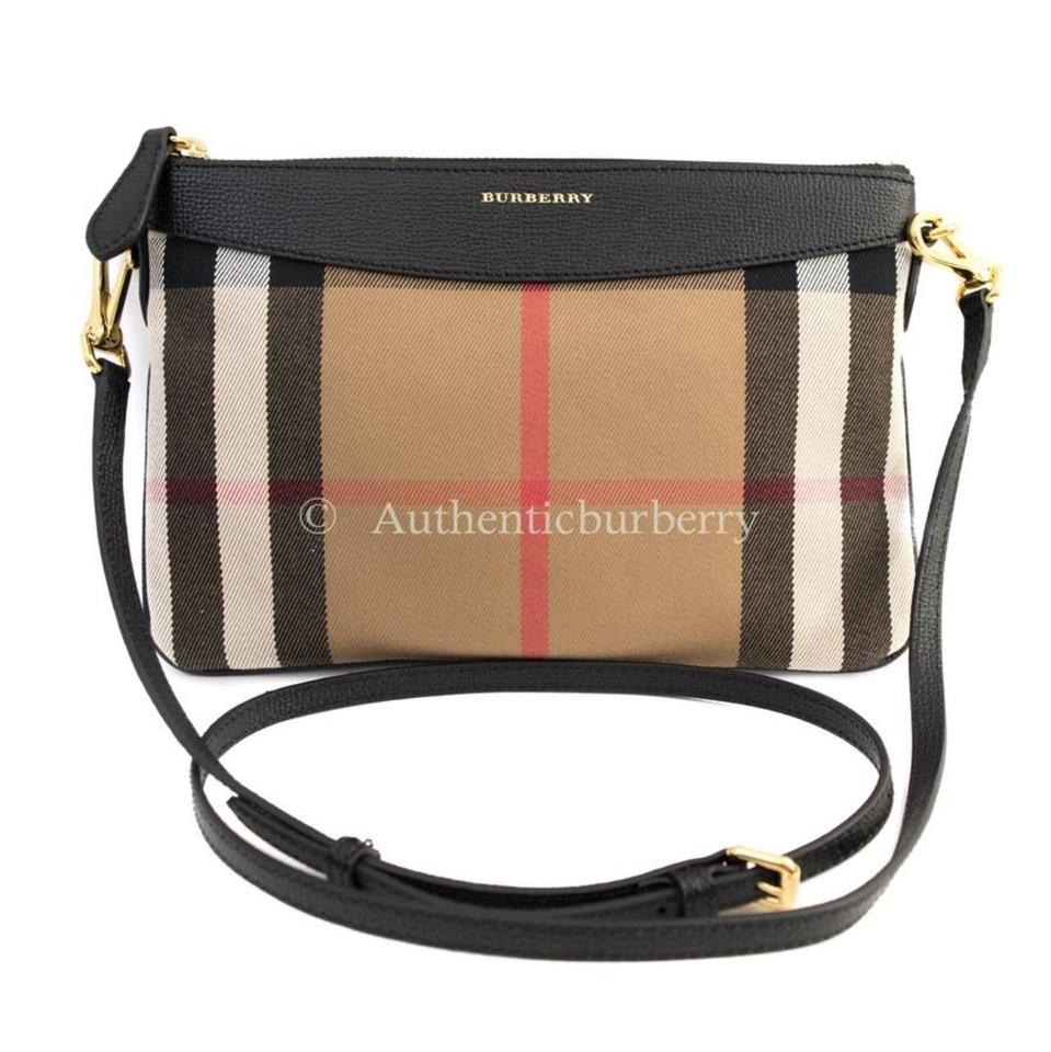 Burberry House Check and Leather Clutch Black Cross Body Bag - Tradesy 40703d60d52bd