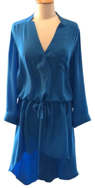 Preload https://img-static.tradesy.com/item/22462156/mason-blue-high-low-shirt-mid-length-night-out-dress-size-4-s-0-1-650-650.jpg