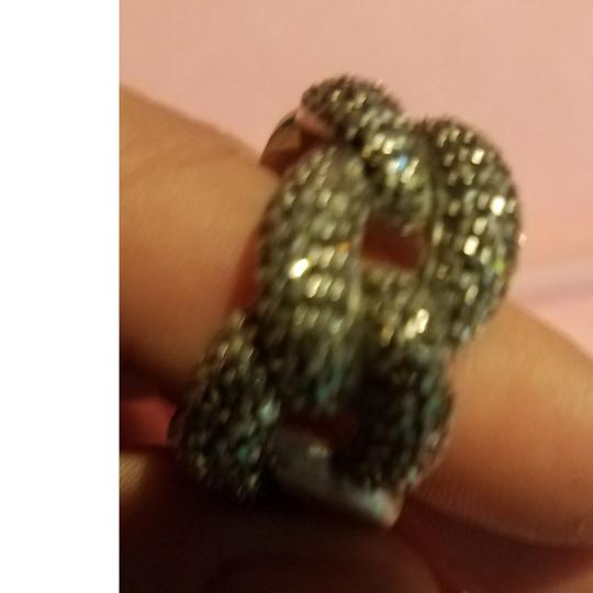 sterling silver chain link ring Sterling silver chain link ring