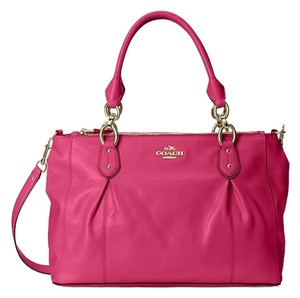 Coach Satchel in Fuschia