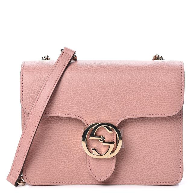 Gucci Interlocking Leather Pink Cross Body Bag Gucci Interlocking Leather Pink Cross Body Bag Image 1