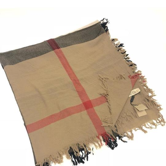 Burberry Large Check Wool Square Scarf House check