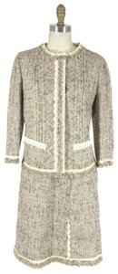 Prada Tweed Two Piece Lace Skirt Suit