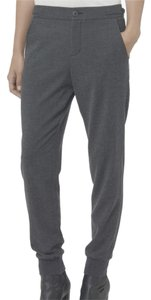 Vince Cuff Rib Dressy Jogger Professional Classy Designer Style Fashion Wool Charcoal Trouser Pants Dark Grey