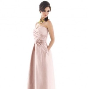 Alfred Sung Pearl Pink Polyester Formal Bridesmaid/Mob Dress Size 2 (XS)