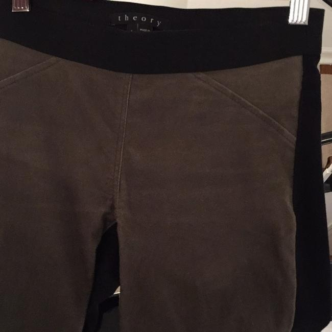 Theory Skinny Pants army and black