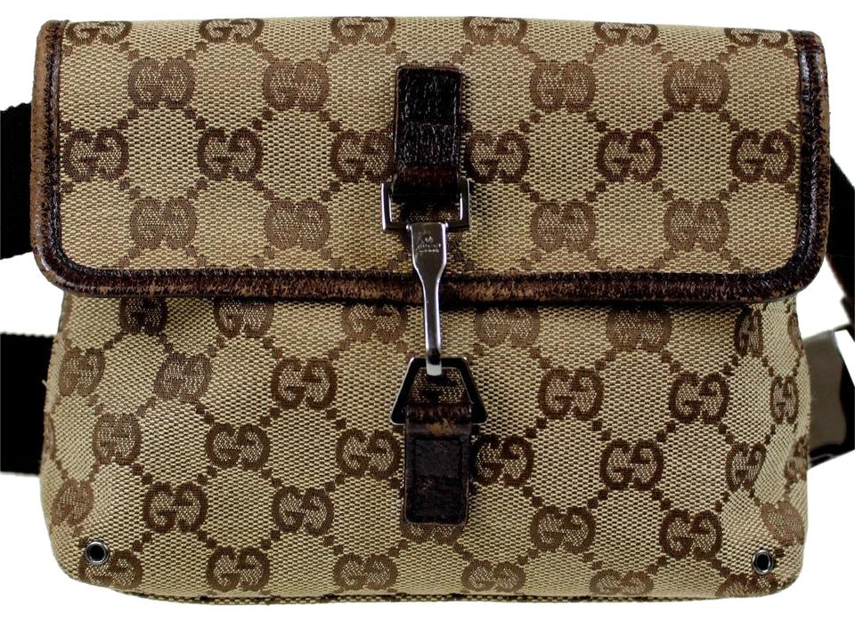 24acbaced201 Gucci Gg Bum Fanny Pack 5362 Brown Canvas Weekend/Travel Bag - Tradesy