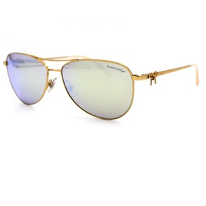 Tiffany & Co. Tiffany & Co. Twist Aviator Sunglasses Gold frame and Mirror Lens 3044