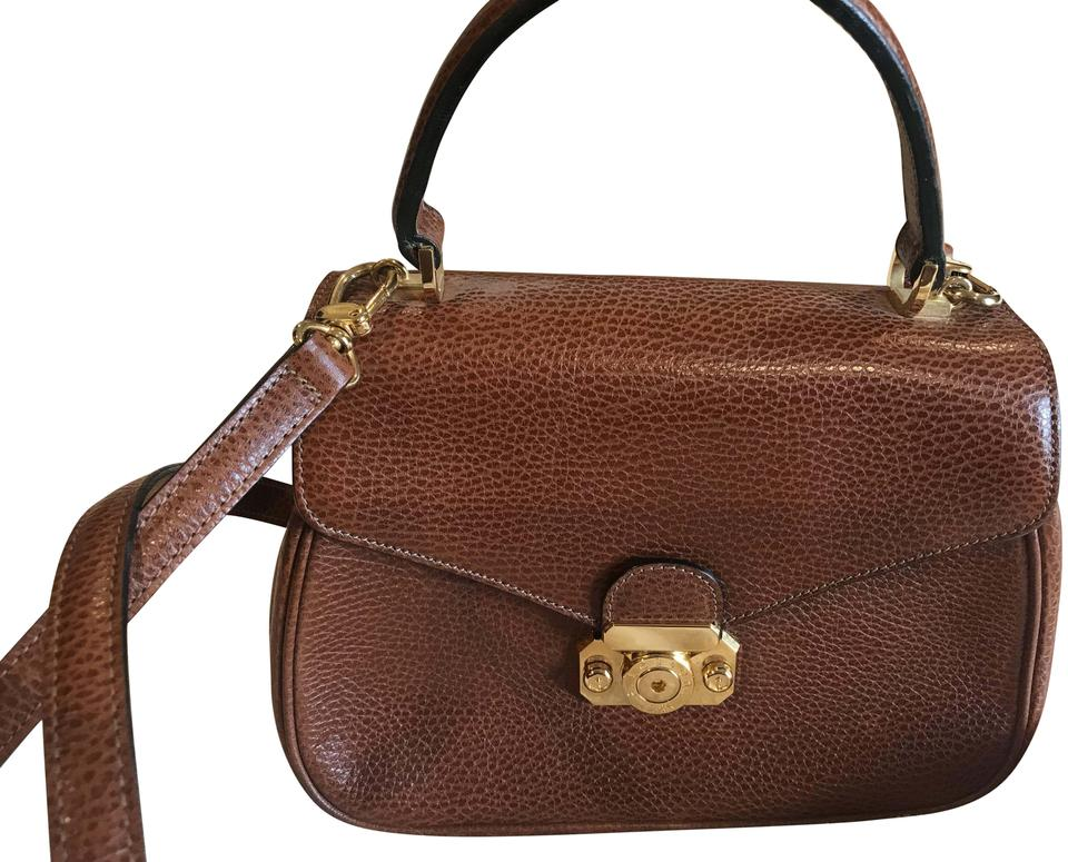 ae61a70a6 a.testoni Classic Ladies Handbag Made In Italy Coffee Leather ...