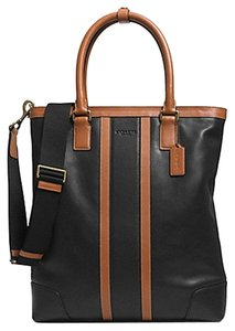 Coach Satchel in Black and Tan