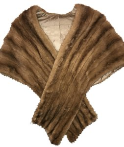Autumn Haze Fur Mink Stole Cape