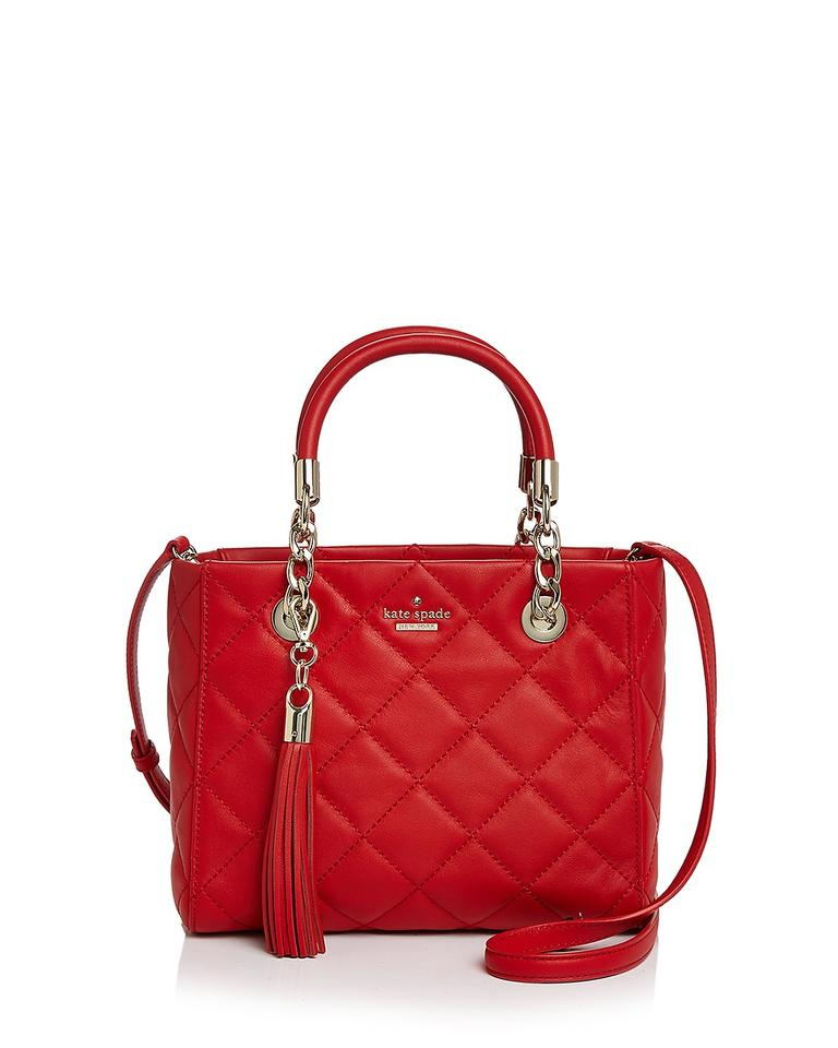 Kate Spade Hibiscus Red Quilted Leather New York Emerson Place ... : kate spade red quilted bag - Adamdwight.com