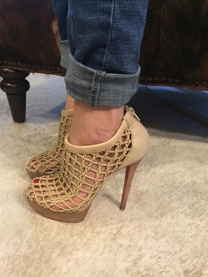the best attitude 85856 d686a Christian Louboutin Beige Coussin Caged Boots/Booties Size US 8 Regular (M,  B) 74% off retail