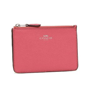 Coach COACH F57854 KEY POUCH WITH GUSSET IN CROSSGRAIN LEATHER