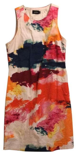 Item - White Red Pink Green Yellow Saturday Short Cocktail Dress Size 2 (XS)