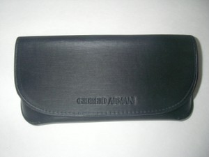 Giorgio Armani Giorgio Armani Gray Slim Magnetic Flap Close Sunglasses/Eyeglasses Case (only)