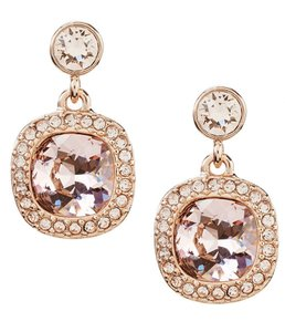 Givenchy Givenchy Cushion-Cut Drop Rose Gold Earrings
