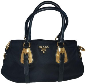 Prada Leather New Satchel in Black