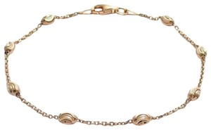 9.2.5 Gorgeous 925 rose gold dipped bead link bracelet