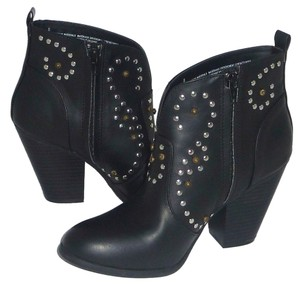 Mossimo Studded Faux Leather Black Boots