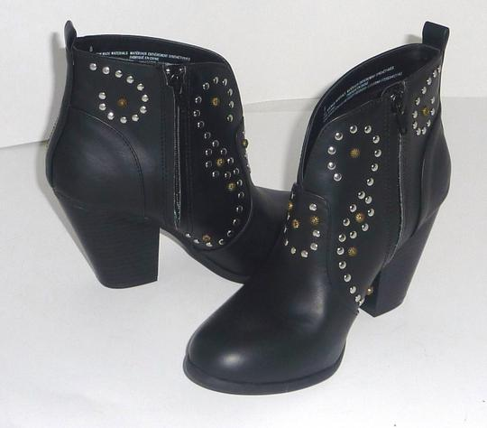 Mossimo Supply Co. Studded Faux Leather Round Toe Black Boots