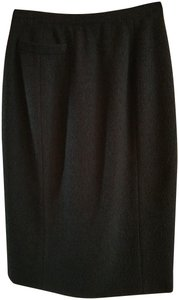 Anna Sui Fully Lined 38 Small Wool Skirt Black